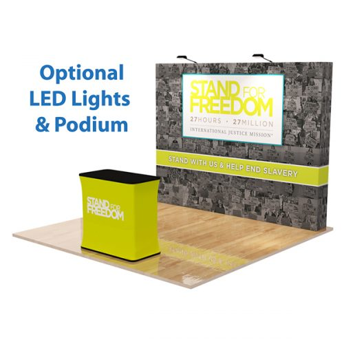 Straight Velcro Fabric Pop Up Display